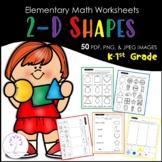 Elementary 2-D SHAPES Worksheets