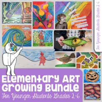 Elementary (3) Art Lessons Bundle - Elements of Art