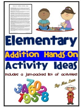 Elementary Addition Hands-On Activity Ideas
