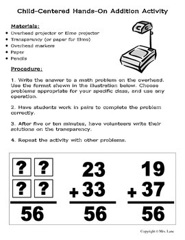 Elementary Addition Teaching Tips