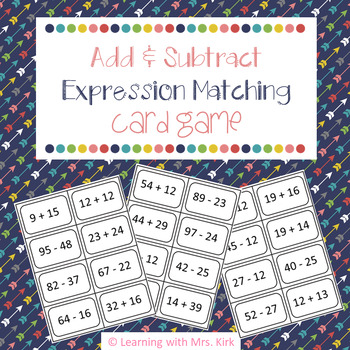 Elementary Addition and Subtraction Equivalent Expressions