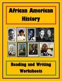 Elementary African American History Worksheet Bundle / Workbook