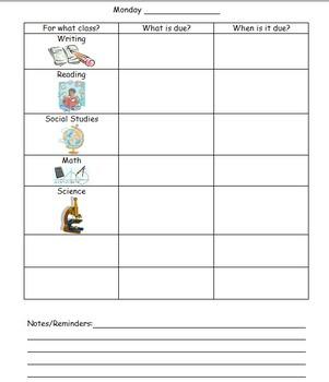 Elementary Agenda