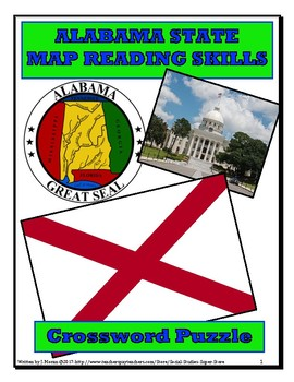 Elementary - Alabama Map Close Reading and Crossword