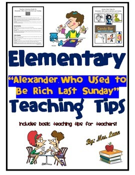 """Elementary """"Alexander, Who Used to Be Rich Last Sunday"""" Teaching Tips"""