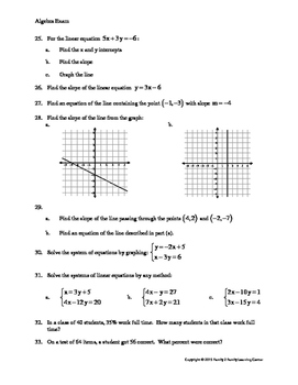 Elementary Algebra Exam