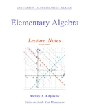 Elementary Algebra: Lecture Notes (SECOND EDITION)—Alexey