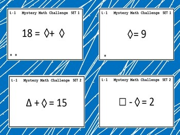 Mystery Number Puzzles - Level 1- Task Cards - Math & Critical Thinking Fun!