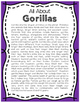 Elementary Animal Research Informational Text- Gorilla!