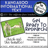 Elementary Animal Research Informational Text- Kangaroo!