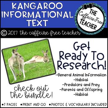 Elementary Animal Research Information- Kangaroo!