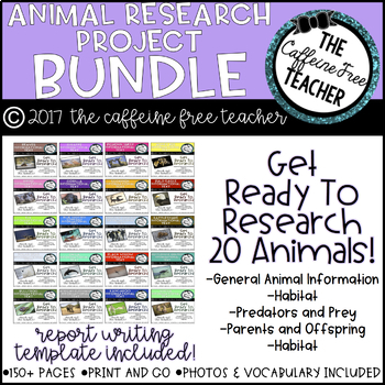 Elementary Animal Research Project Bundle