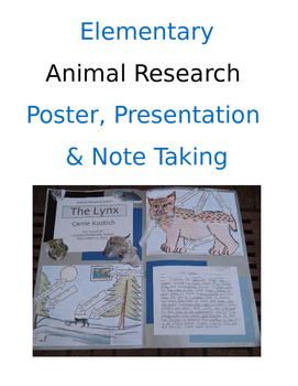 Elementary Animal Research Report Format (Print and Go)