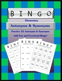 Elementary Antonyms and Synonyms Bingo