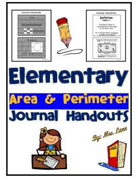 Elementary Area & Perimeter Journal Handouts