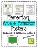 Elementary Area & Perimeter Posters