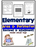 Elementary Area & Perimeter Reviews and Assessments