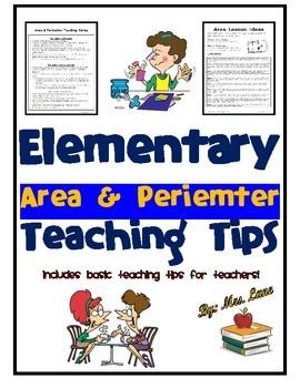 Elementary Area & Perimeter Teaching Tips