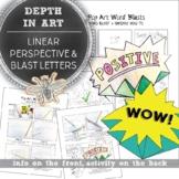 Elementary Art Blast Letter, Linear Perspective Drawing Gu