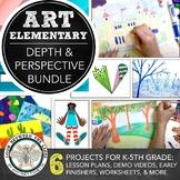 Distance Learning Elementary Art Creating Depth in Art K-5th Grade Unit