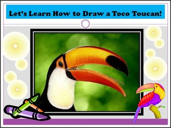 Elementary Art Drawing Lesson - Toco Toucan