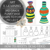 Elementary Art Distance Learning Lesson Pack for 3rd Grade: School Closure Plan