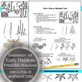 Elementary Art Early Finishers Handout: How to Draw an Und