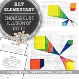 Elementary Art: Endless Cube, Depth in Art Drawing Guide E