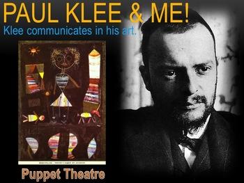 Elementary Art Lesson 5th:Paul Klee Puppet Theatre Chalk P