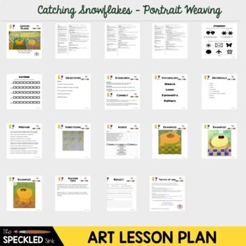 Elementary Art Lesson - Catch a snowflake weavings unit lesson plans