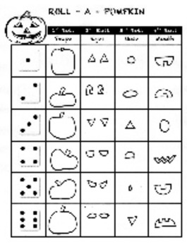 Elementary Art Lesson - Doodle Dice - Roll a Pumpkin