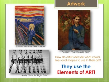 Elementary Art Lesson: Elements of Art for Lower Elementary & Marzano DQs