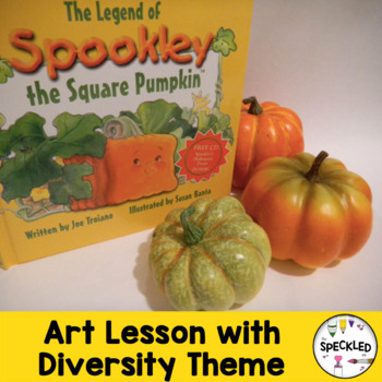 Elementary Art Lesson. Fall Pumpkin Oil Pastel with Anti-Bullying Theme