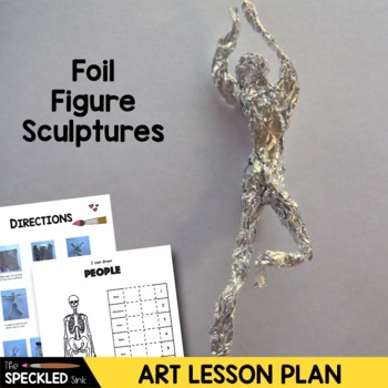 Elementary Art Lesson - Figure Sculptures with Shadows for Groundhogs Day