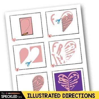 Elementary Art Lesson Plan. Notan Conversation Hearts. Positive Negative Space.