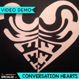 Elementary Art Lesson Plan. Notan Conversation Hearts. Pos