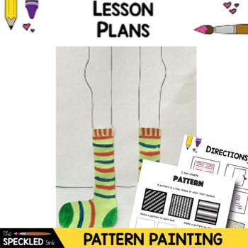 Elementary Art Lesson - Pair of Socks Book - Pattern Match