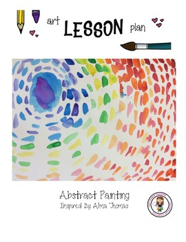 Elementary Art Lesson Plan. Abstract Line & Eclipse Painting Alma Thomas