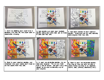 Elementary Art Lesson Plan Abstract, Non-Objective, and Realism
