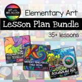 GROWING Elementary Art Lesson Plan Bundle