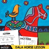 Elementary Art Lesson Plan Folk Art Swedish Dala Horse Painting