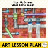 Middle School Art Lesson Plan. Game Design Lesson using Cylinders & Value.