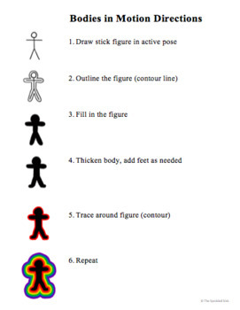 Elementary Art Lesson Plan. Keith Haring Bodies in Motion