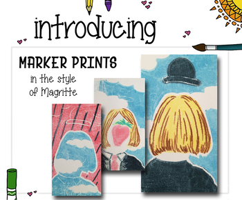 Art Lesson Plan: Marker Printing with Magritte - Elementary Art