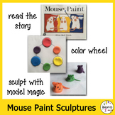 Elementary Art Lesson Plan. Mouse Paint Inspired Pinchpot Lesson. Model Magic.
