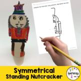 Elementary Art Lesson Plan. Standing Nutcracker using Symmetry