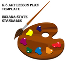 Elementary Art Lesson Plan Template for Indiana Standards