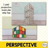 Elementary & Middle  Art Lesson Plan. Two point perspectiv