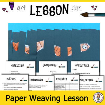 Elementary Art Lesson Plans. Draw, Paint and Weave a Snake.