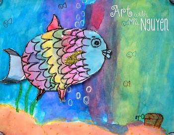Elementary Art Lesson: The Rainbow Fish